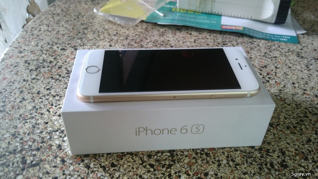 iphone 6s 16gb vàng gold còn bảo hành 5 tháng. - 2