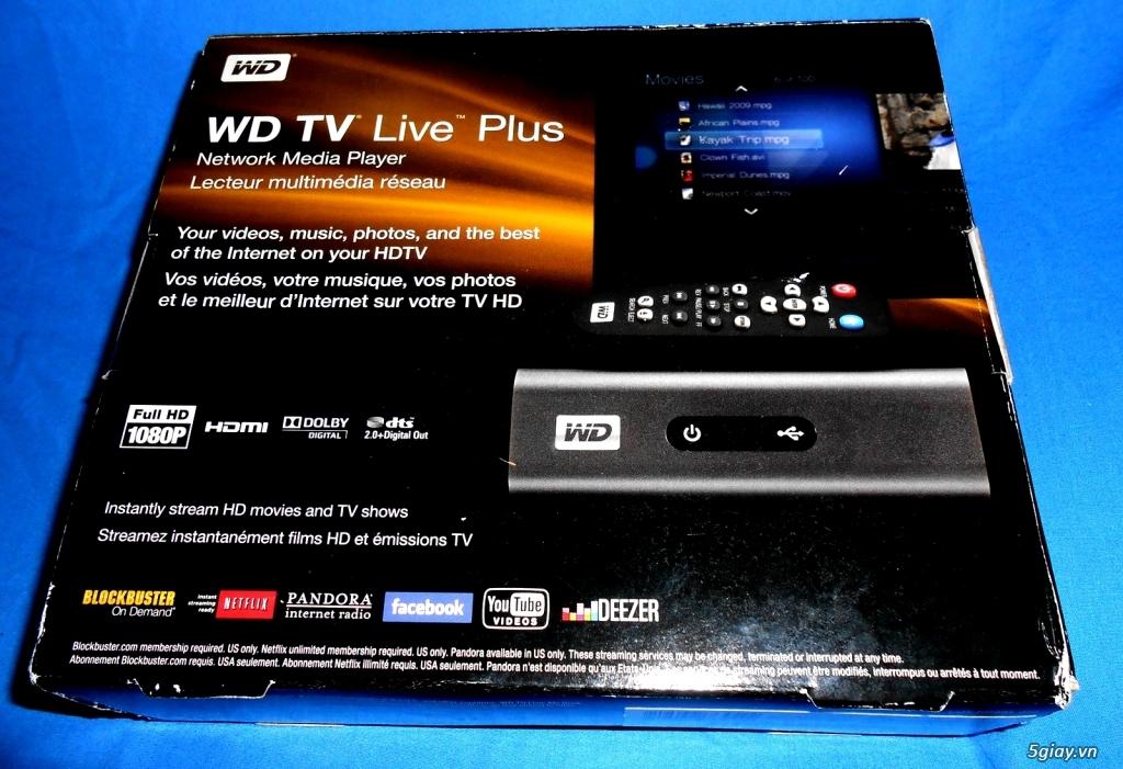 Đầu HD -từ USA về WD TV Live Plus