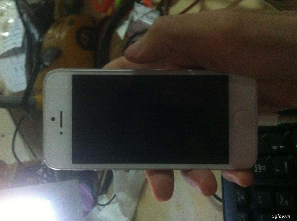 cần bán Iphone 5 trắng 16GB mới 98.9% giá sinh viên nghèo