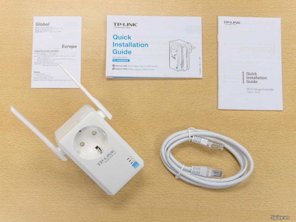 Mở hộp thiết bị mở rộng mạng WiFi TP-LINK TL-WA860RE - 133047