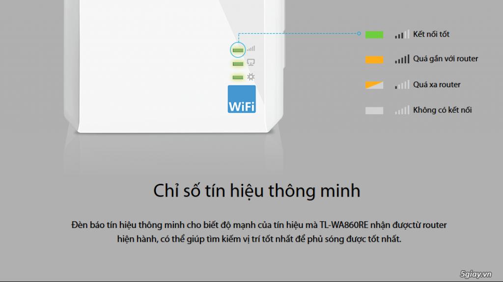 Mở hộp thiết bị mở rộng mạng WiFi TP-LINK TL-WA860RE - 133049