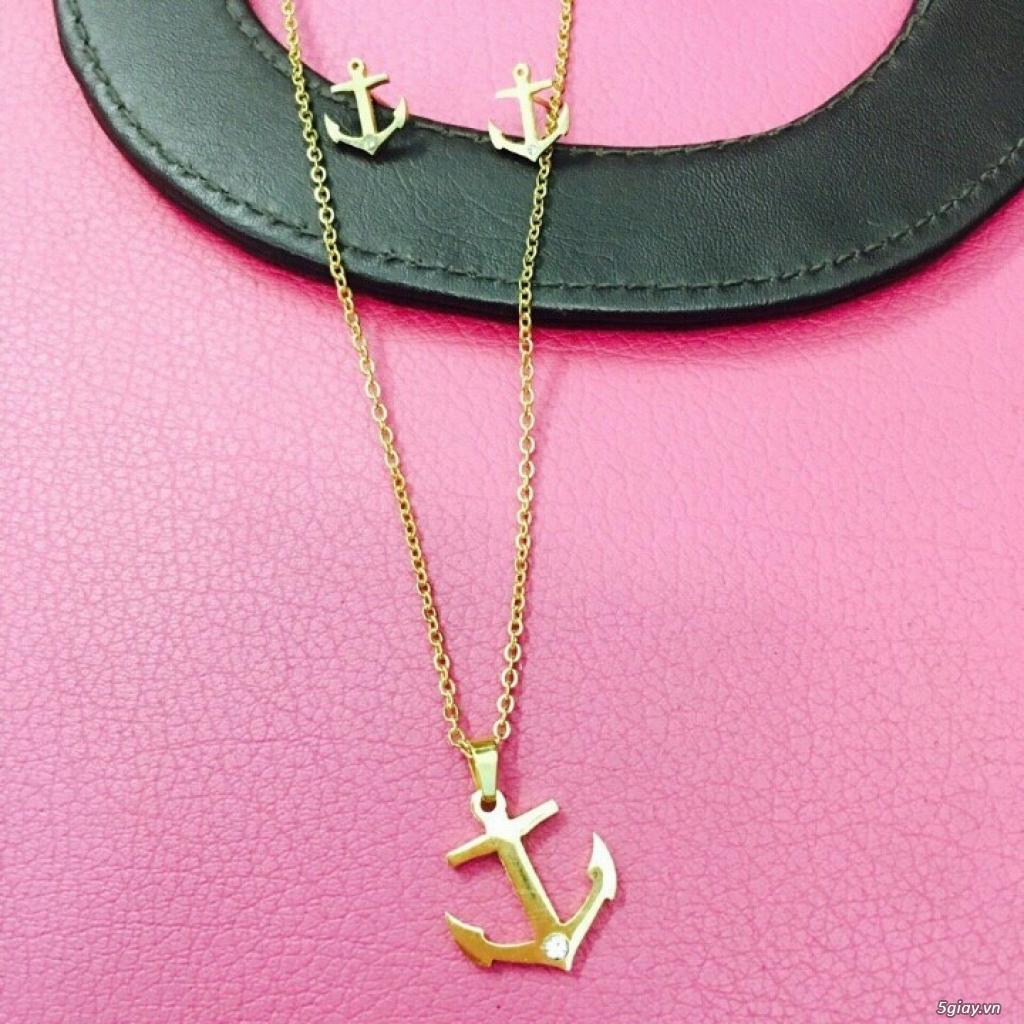 Zalo 0981662025. Bộ trang sức xi vàng 18--Giá sỉ 58k ( gồm 3 món : bông , dây & mặt). - 18