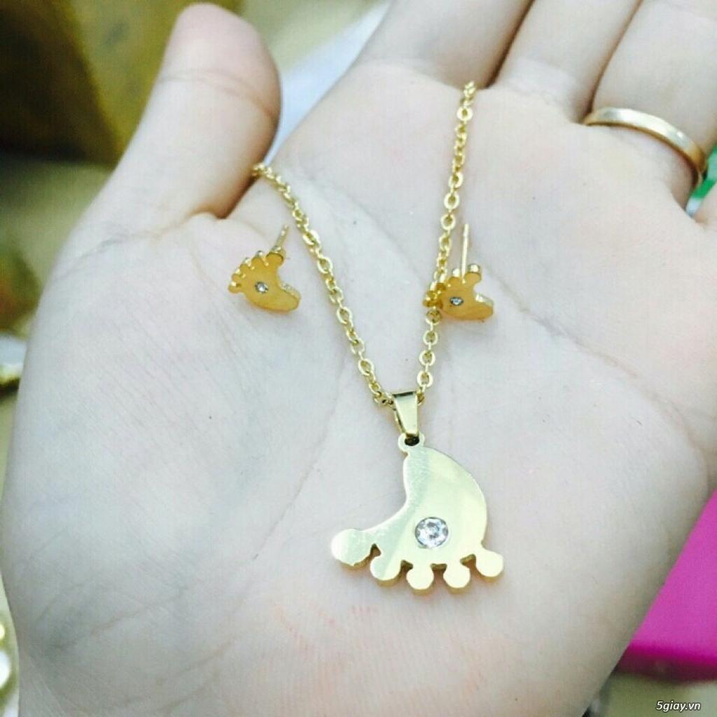 Zalo 0981662025. Bộ trang sức xi vàng 18--Giá sỉ 58k ( gồm 3 món : bông , dây & mặt). - 21