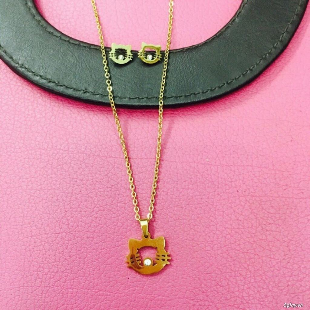 Zalo 0981662025. Bộ trang sức xi vàng 18--Giá sỉ 58k ( gồm 3 món : bông , dây & mặt). - 2