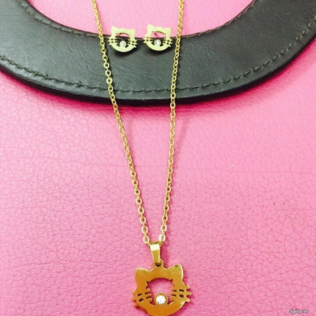 Zalo 0981662025. Bộ trang sức xi vàng 18--Giá sỉ 58k ( gồm 3 món : bông , dây & mặt). - 3