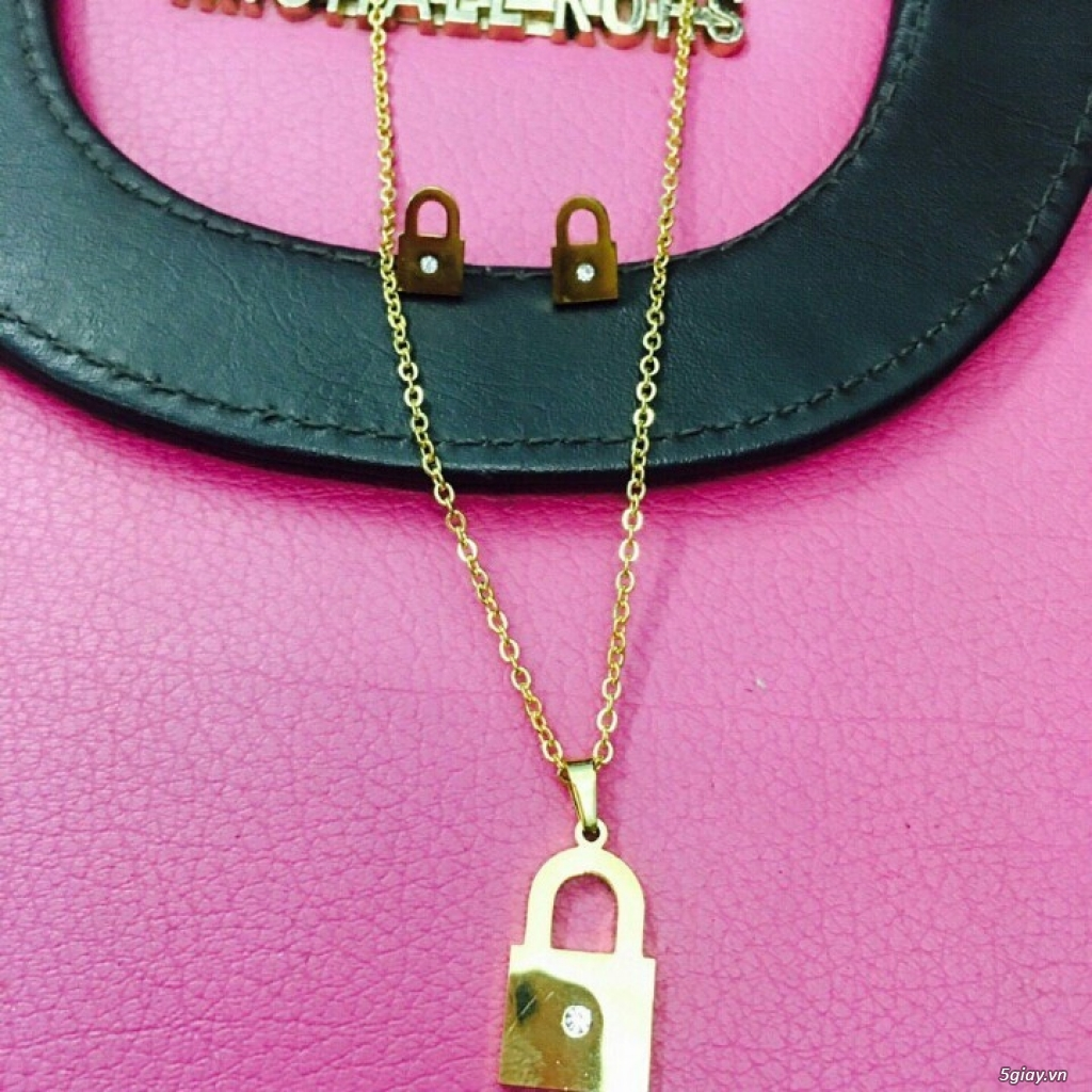 Zalo 0981662025. Bộ trang sức xi vàng 18--Giá sỉ 58k ( gồm 3 món : bông , dây & mặt). - 4