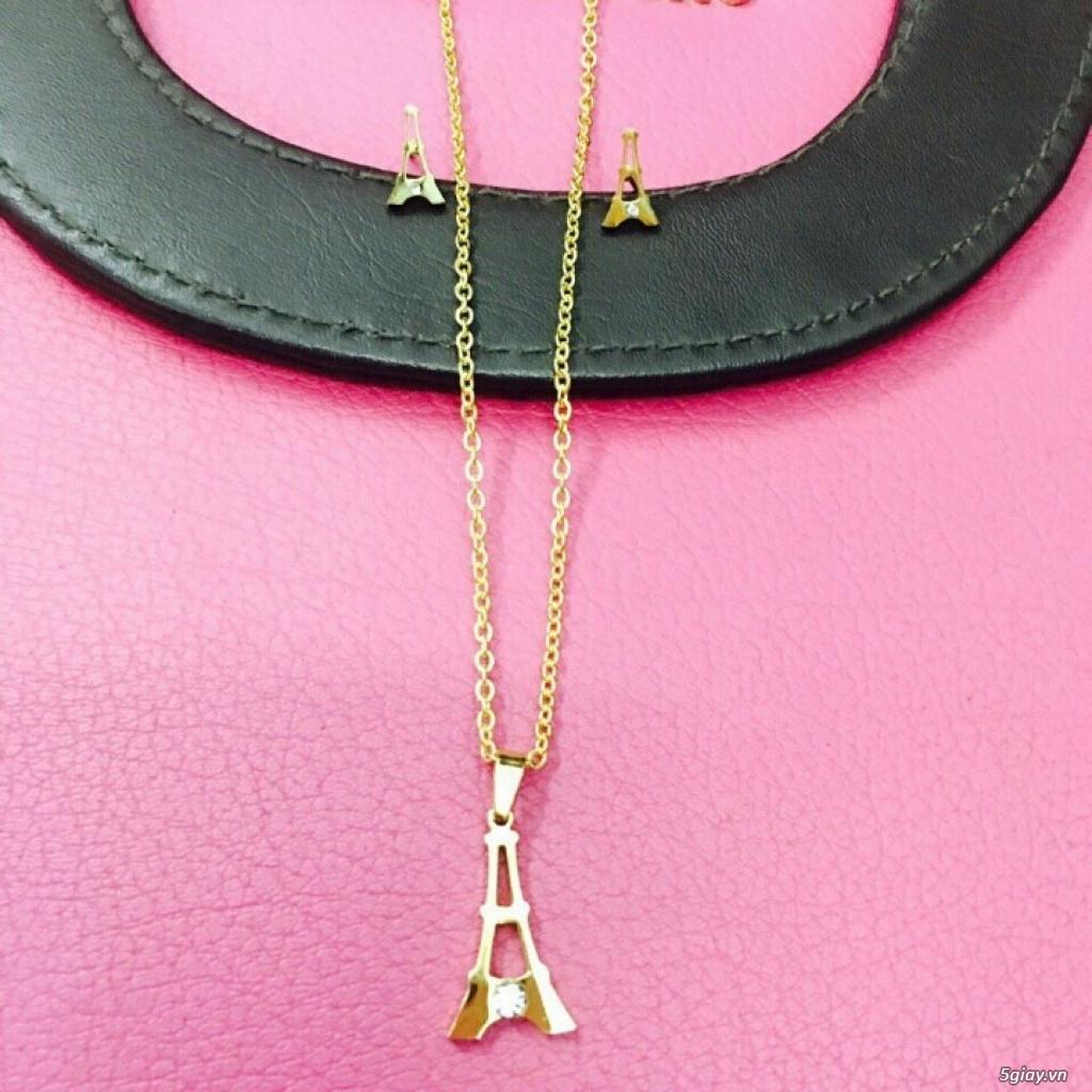 Zalo 0981662025. Bộ trang sức xi vàng 18--Giá sỉ 58k ( gồm 3 món : bông , dây & mặt). - 12
