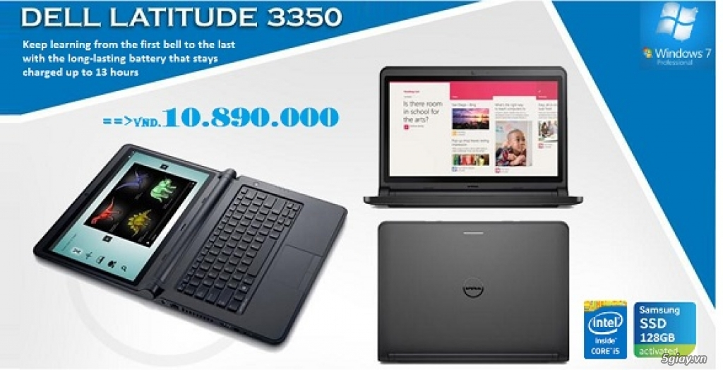 Laptop Dell 5559, 5459, 5558, 5458, 7348, 7359, 3443,... : Core i3, i5, i7 New Seal. Giá cực HOT !!! - 13