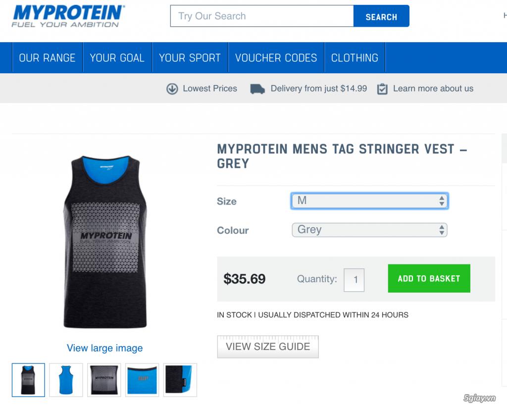 Bán quần áo Myprotein, chuyên về tập gym, chơi thể thao, đi chơi đều được... - 12