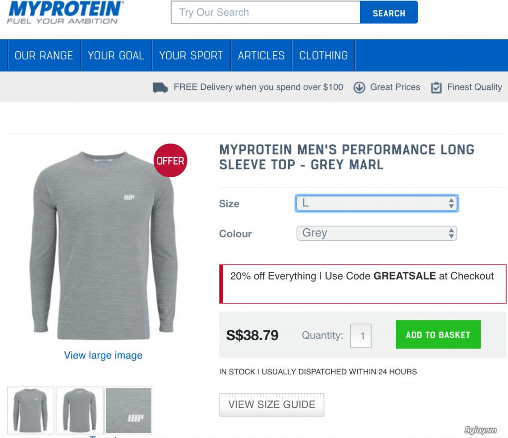 Bán quần áo Myprotein, chuyên về tập gym, chơi thể thao, đi chơi đều được... - 16