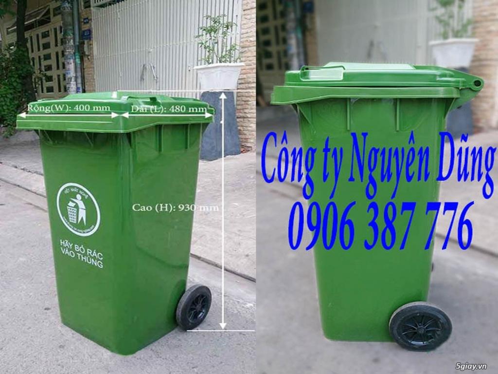Thùng rác composite, Thùng rác nhựa composite 240L|| Giá Rẻ - 7