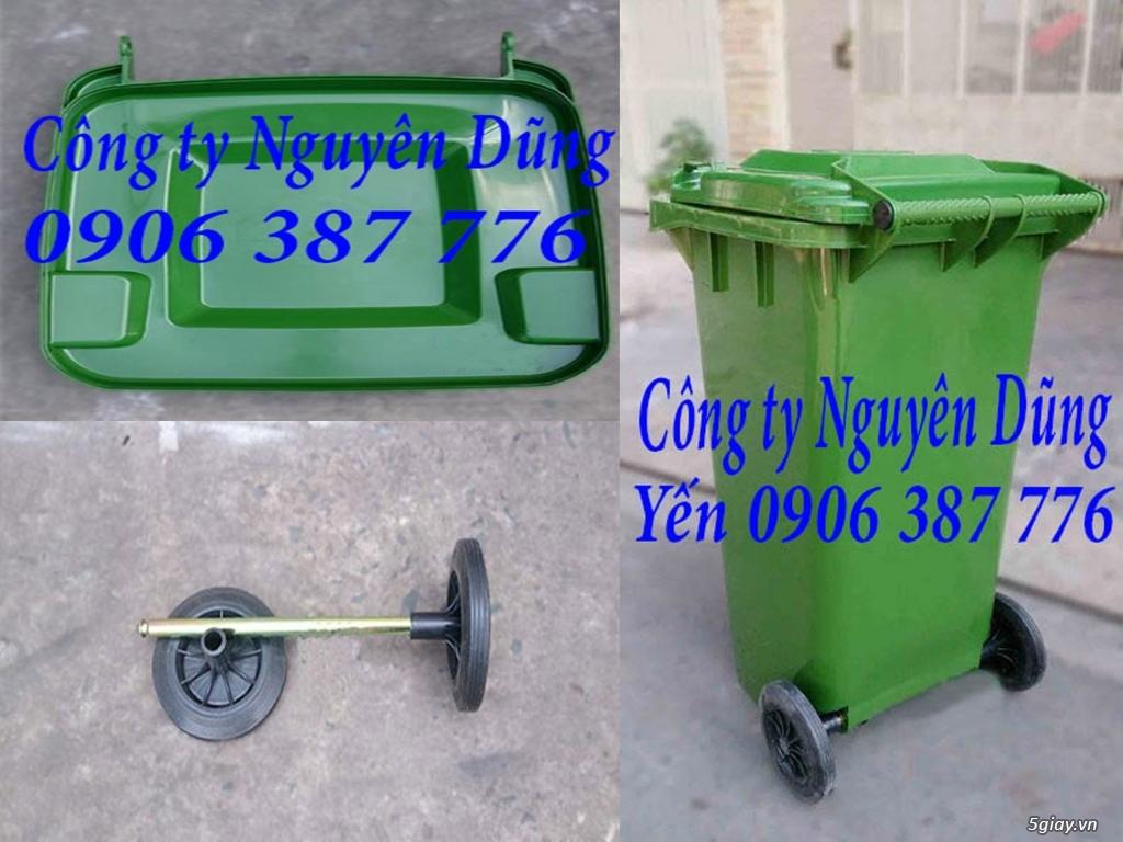 Thùng rác composite, Thùng rác nhựa composite 240L|| Giá Rẻ - 8