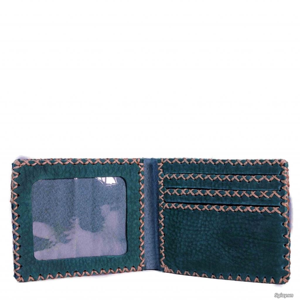 Bóp da Handmade độc đáo. da thật 100%. bảo hành vĩnh viễn. <BEAR SHOP> - 34