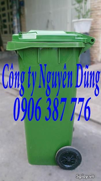 Thùng rác composite, Thùng rác nhựa composite 240L|| Giá Rẻ - 5