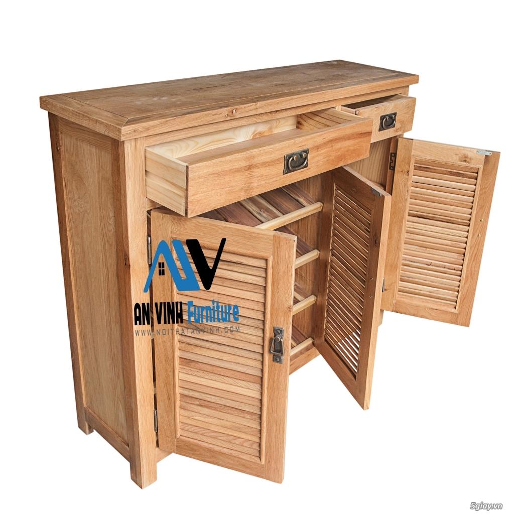Tủ dép gỗ Sồi - Đơn giản, tiện lợi và chắc chắn - 3