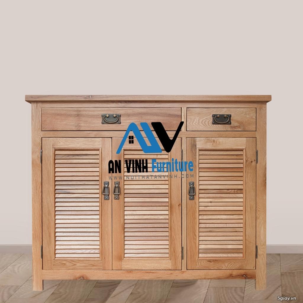 Tủ dép gỗ Sồi - Đơn giản, tiện lợi và chắc chắn