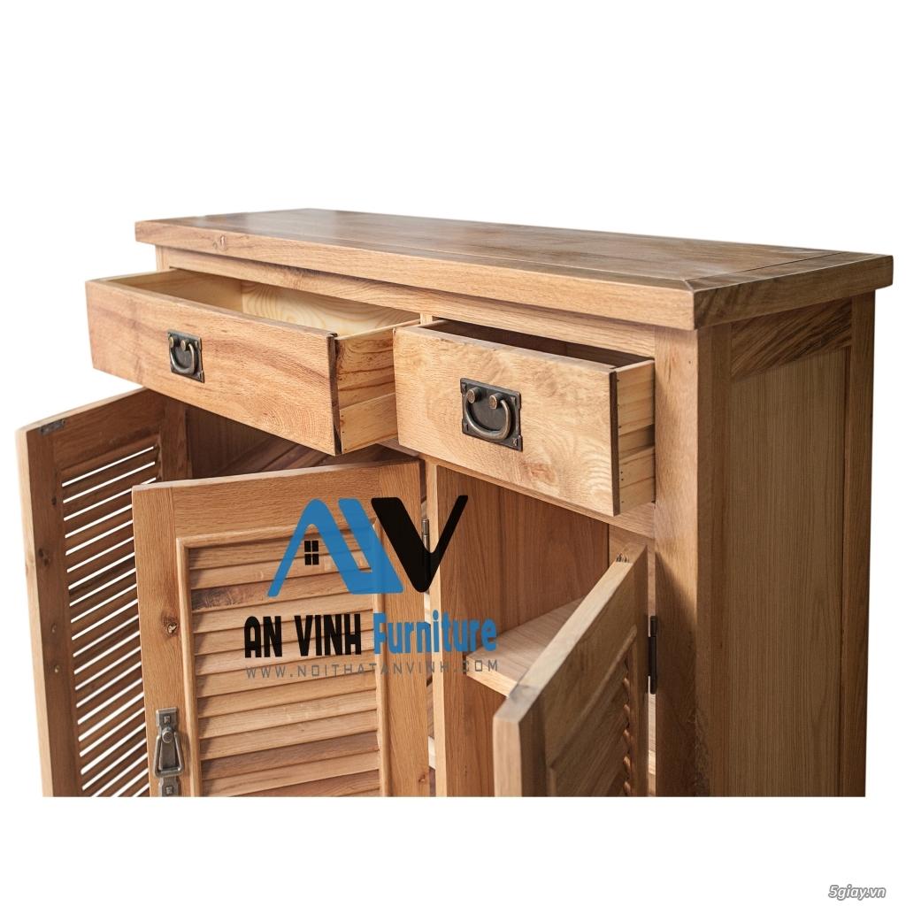 Tủ dép gỗ Sồi - Đơn giản, tiện lợi và chắc chắn - 1
