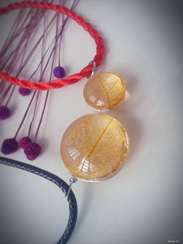 Trang sức phụ kiện handmade từ hoa lá - 11