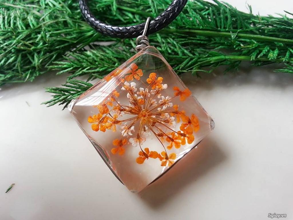 Trang sức phụ kiện handmade từ hoa lá - 22
