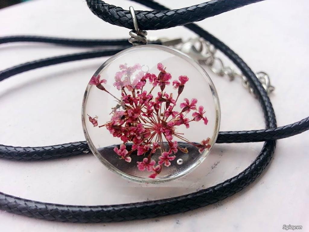 Trang sức phụ kiện handmade từ hoa lá - 13
