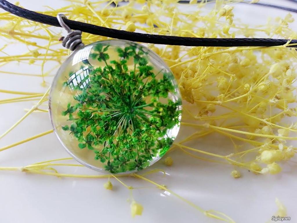 Trang sức phụ kiện handmade từ hoa lá - 15