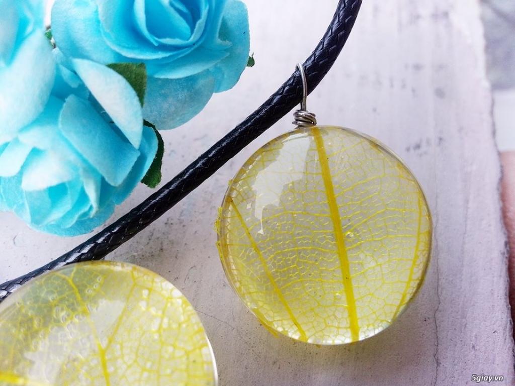 Trang sức phụ kiện handmade từ hoa lá - 32