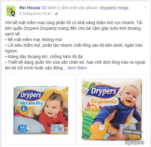 Cung cấp tã Drypers thương hiệu tã của tập đoàn SCA Thụy Điển, sản phẩm sản xuất tại Malaysia. - 1
