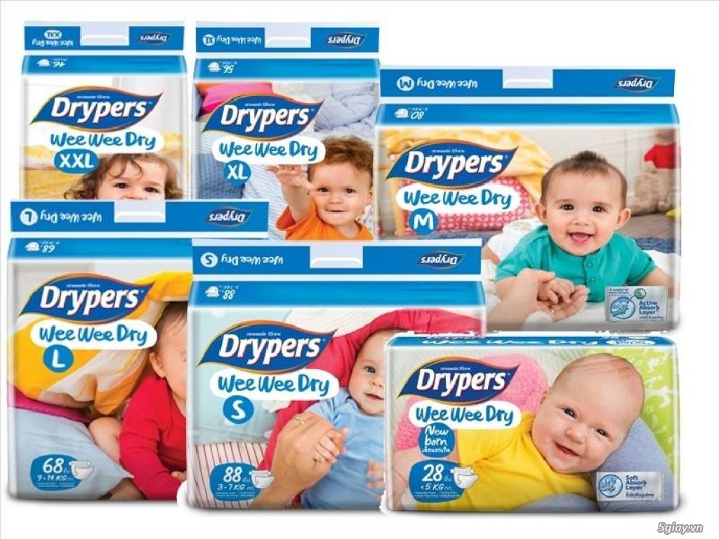 Cung cấp tã Drypers thương hiệu tã của tập đoàn SCA Thụy Điển, sản phẩm sản xuất tại Malaysia.