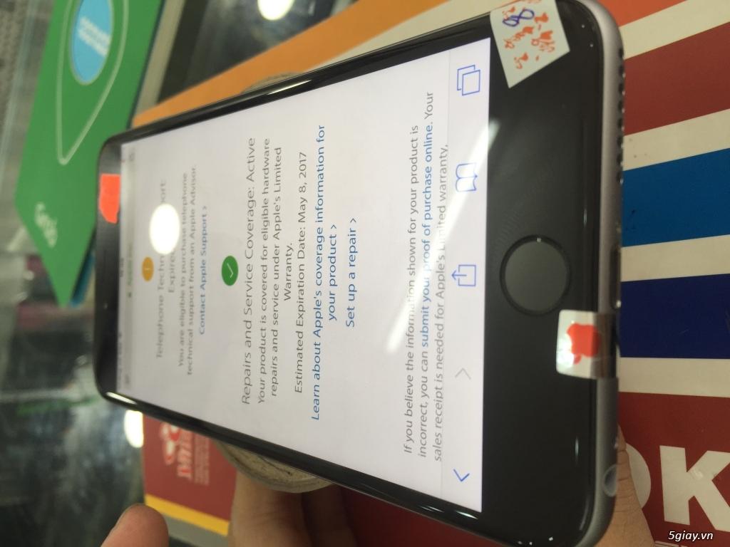 iPhone 6 Plus xám 16gb quốc tế bảo hành tới tháng 5/2017