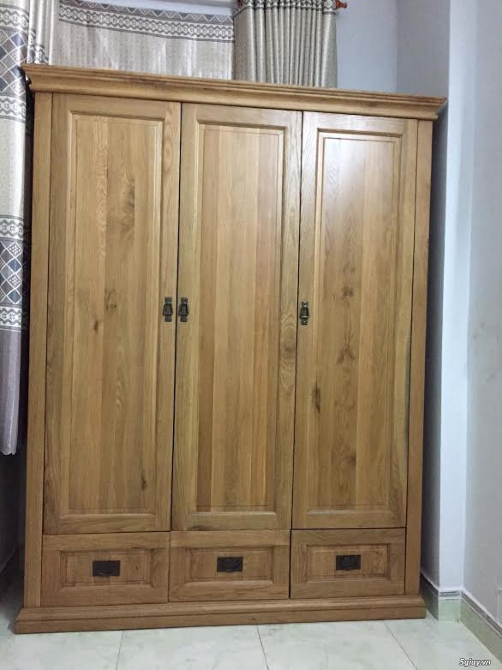 Nội Thất Tây Hưng Thịnh: Thanh lý giường tủ bàn ghế  bằng gỗ Sồi xuất khẩu Hàn Quốc - 12