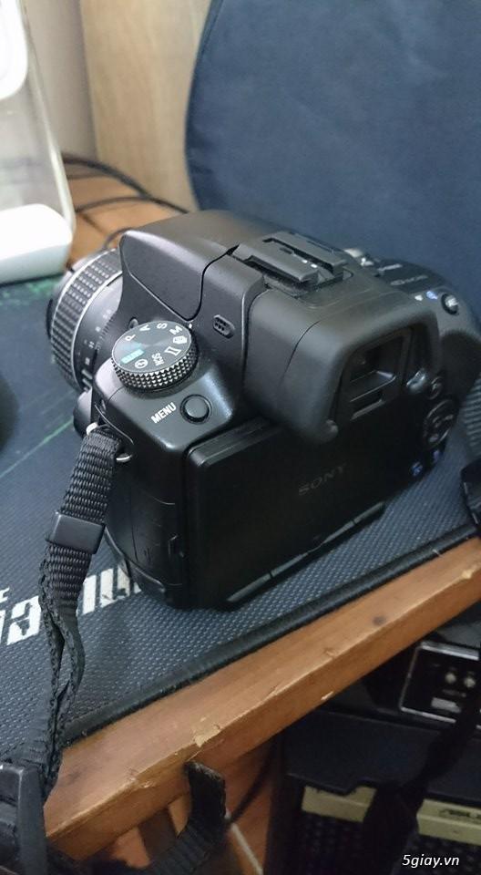 Máy ảnh sony A55 và lens kit 18-70 - 4