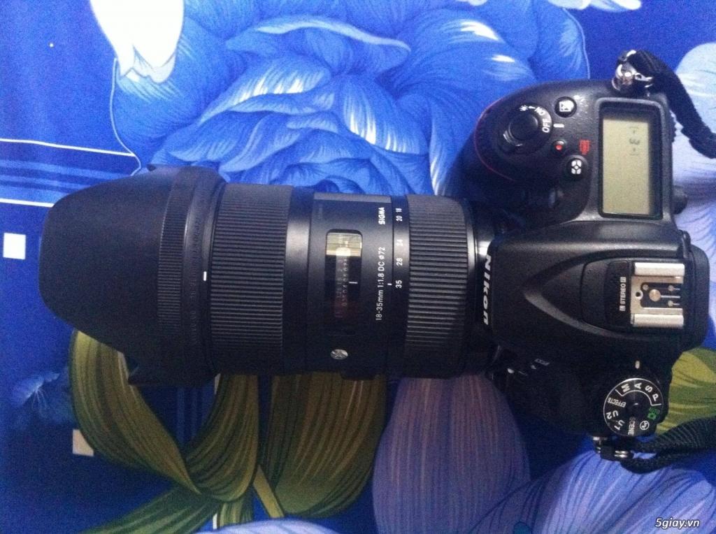 Nikon D7100 + sigma 18-35 f1.8 ra đi - 1