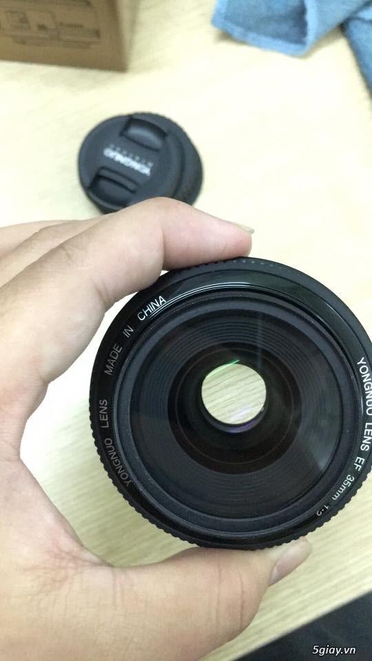 Combo 50D + grip zin + lens yongnuo 35mm f2 - 5