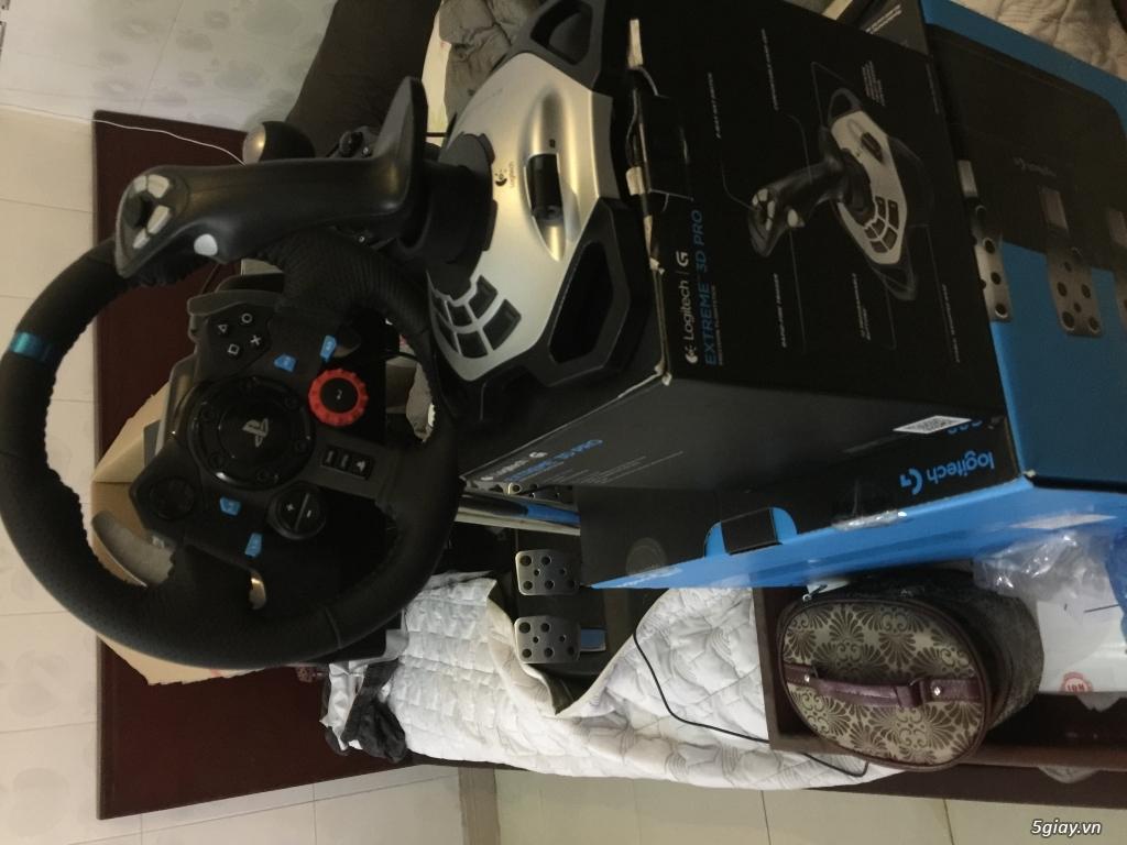 Bán vô lăng Logitech G29 - Logitech Extreme 3D pro + Ghế Dx Racer