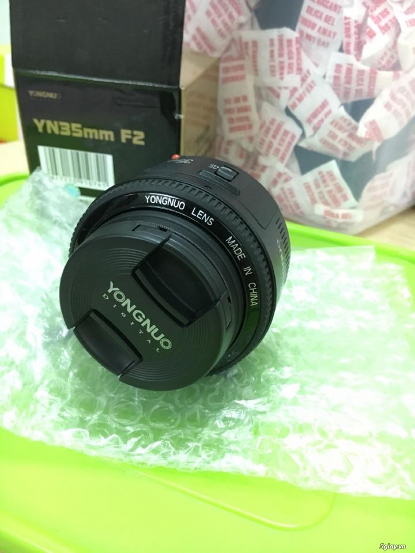 Combo 50D + grip zin + lens yongnuo 35mm f2 - 8