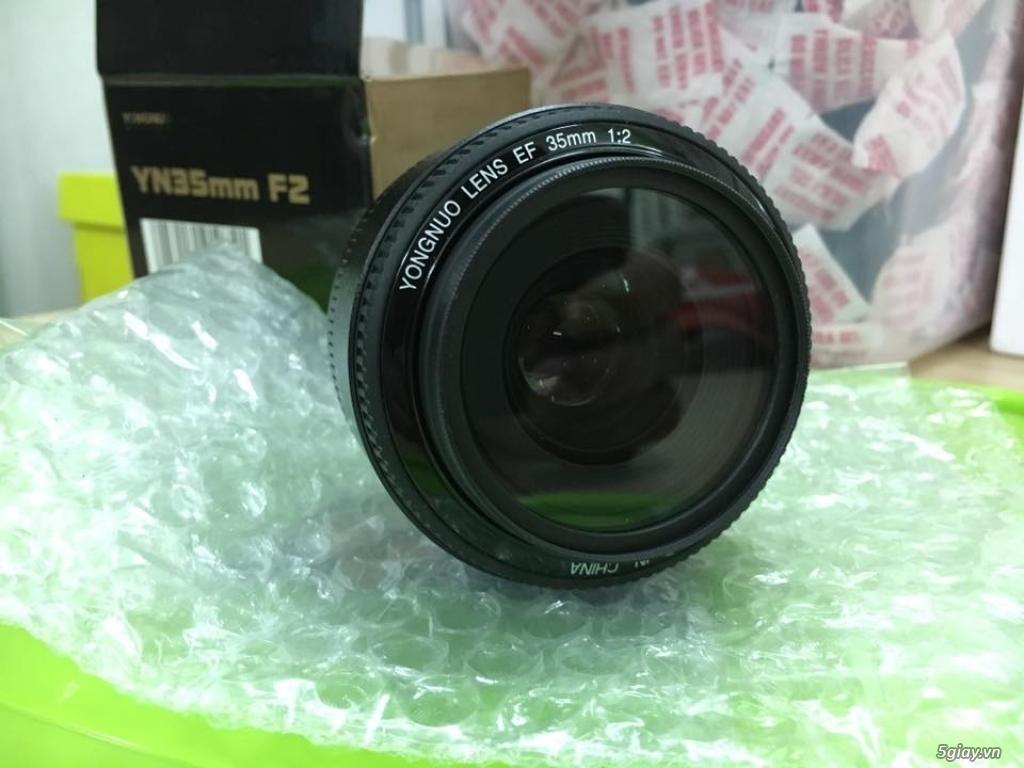 Combo 50D + grip zin + lens yongnuo 35mm f2 - 6