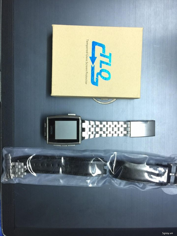 Cần bán smartwatch Pebble Steel fullbox - 2