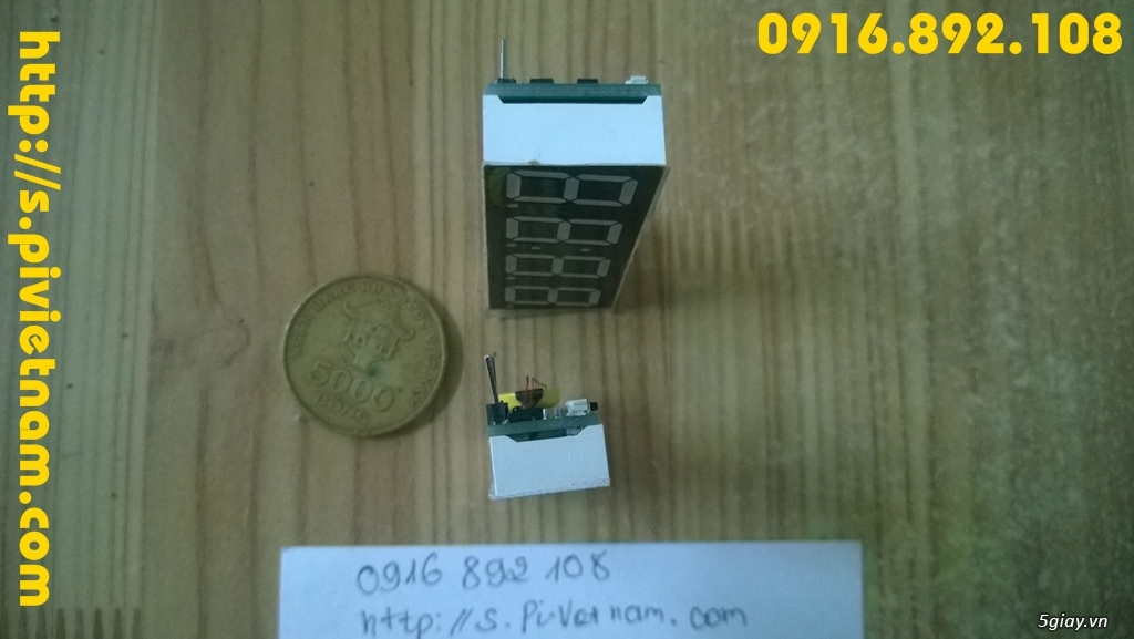 [LED]Đồng hồ báo giờ cho xe máy 3in 1: giờ phút, Volt, độ C - 12