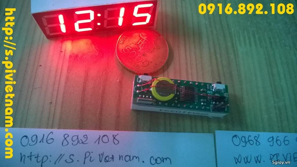 [LED]Đồng hồ báo giờ cho xe máy 3in 1: giờ phút, Volt, độ C - 4