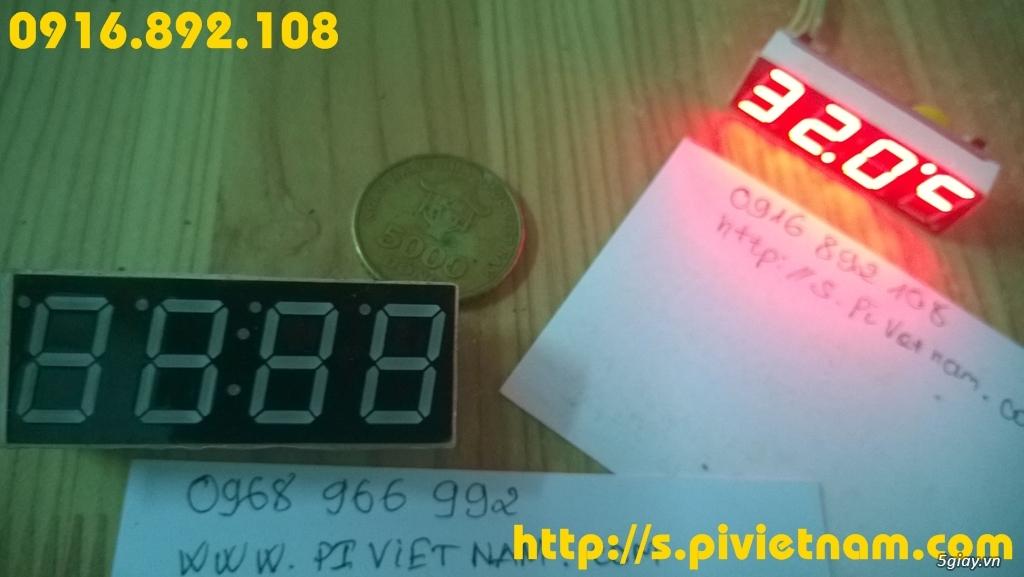 [LED]Đồng hồ báo giờ cho xe máy 3in 1: giờ phút, Volt, độ C - 2