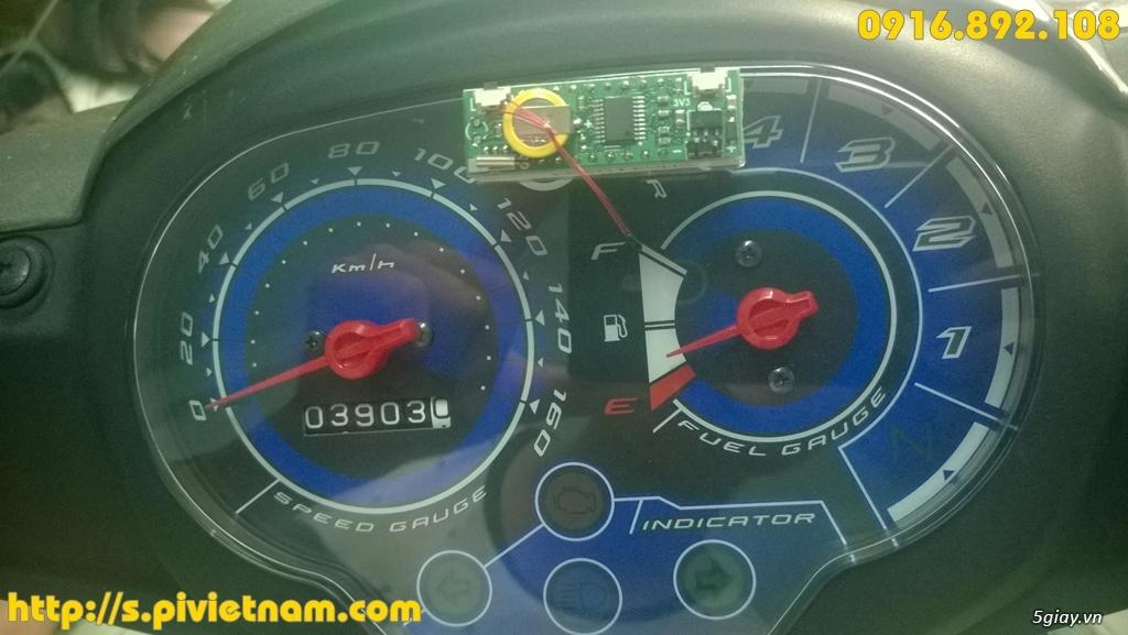 [LED]Đồng hồ báo giờ cho xe máy 3in 1: giờ phút, Volt, độ C - 14