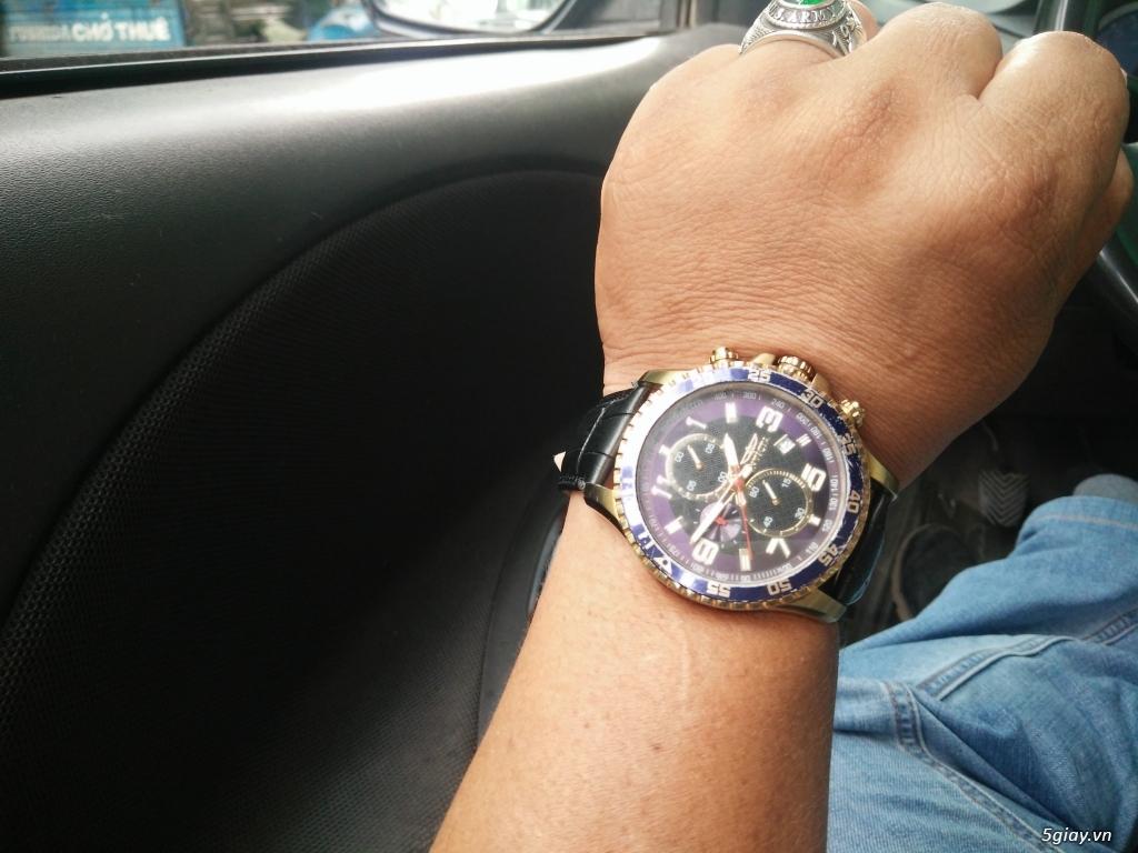 Bán đồng hồ Invicta 14878 chronograph gold rất menly & Pro