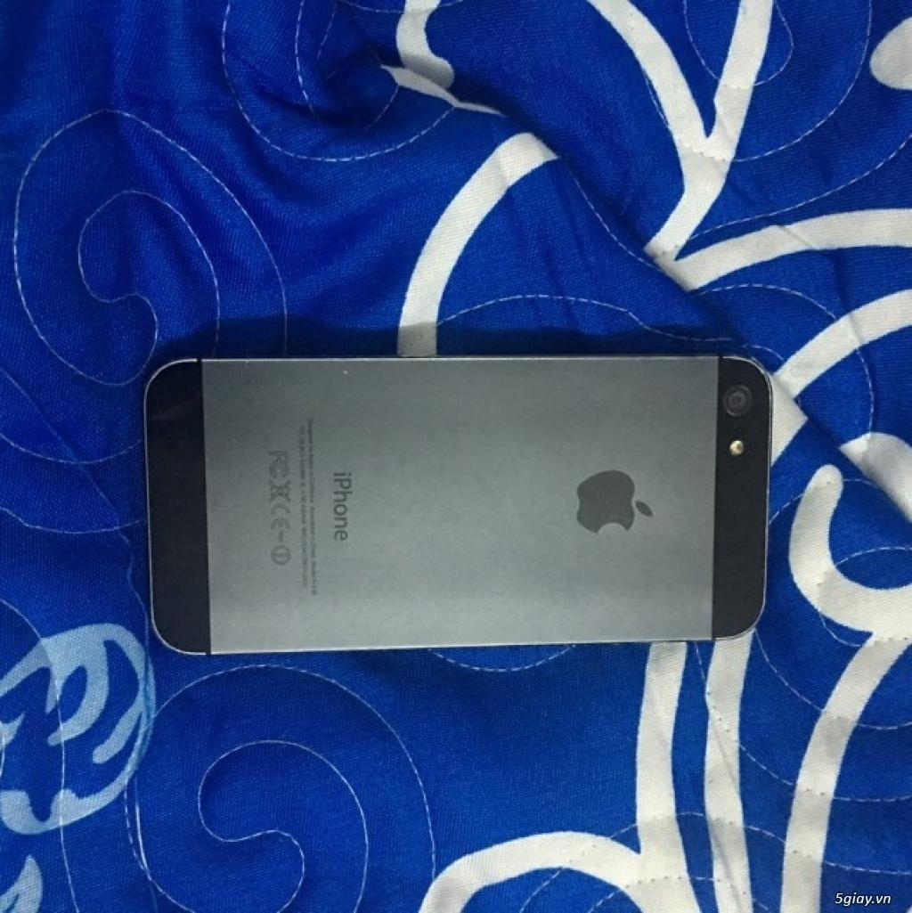 Điện thoại xài chán bán đỡ lỗ Iphone 5 16g 2,3 củ QT Đen 97% :85: - 8