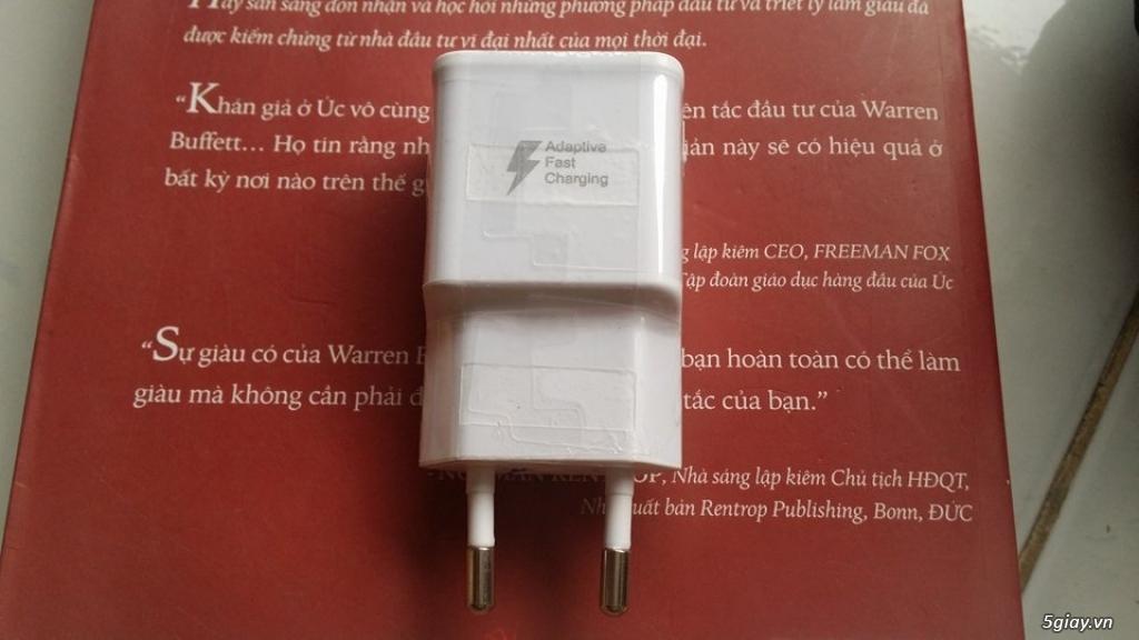 Chuyên bán sạc cáp-tainghe-vỏ-pin-linh kiện samsung s6 s7 note5 7 chính hãng - 1