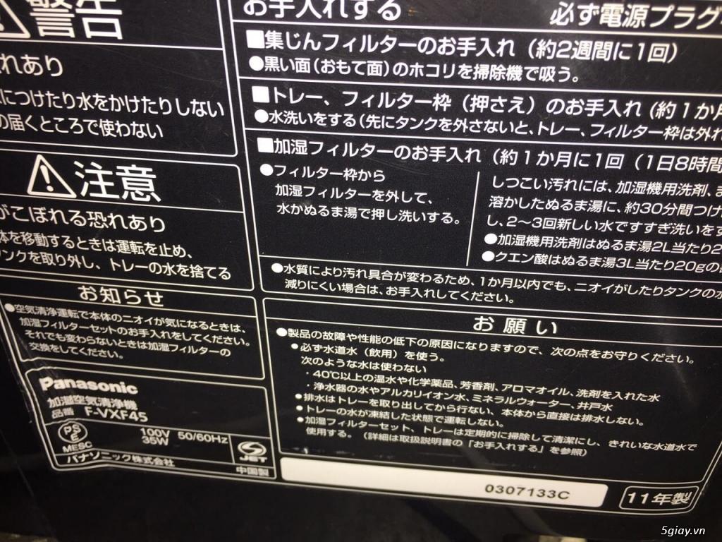 Máy Lọc Không Khí Tạo Ẩm Hàng Nội Địa Nhật GIÁ TỐT | NANOe-G  - Plasmacluster 7000 - 6