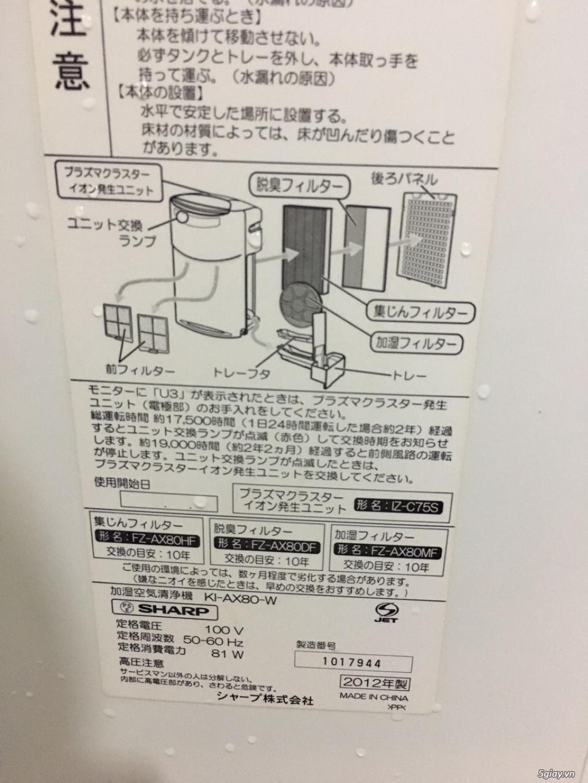 Máy Lọc Không Khí Tạo Ẩm Hàng Nội Địa Nhật GIÁ TỐT | NANOe-G  - Plasmacluster 7000 - 12