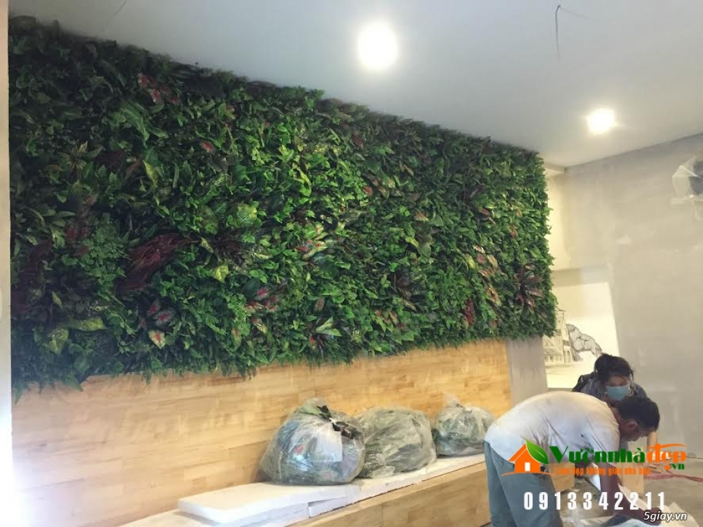 Thi Công tường cây giả - Đẹp như tường cây thật - 5