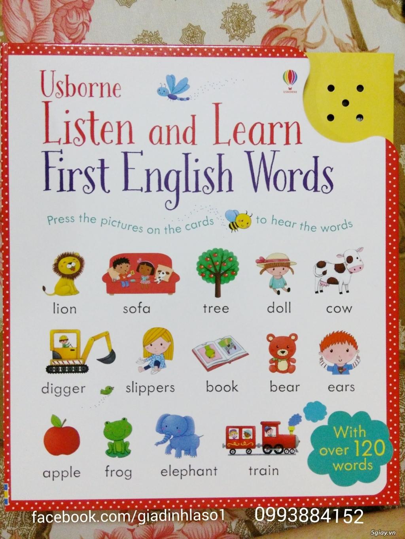 Sách Tiếng Anh Usborne Listen and Learn First English cho bé học từ vựng.