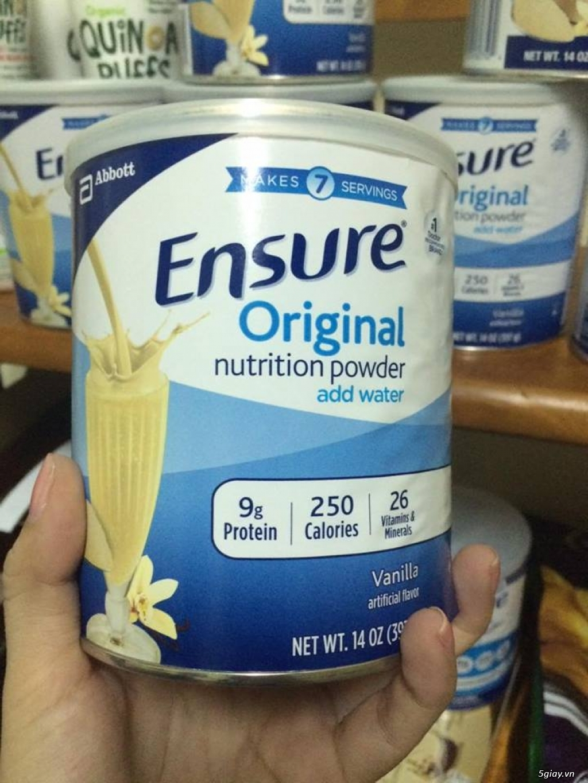 Sữa Ensure mẫu mới nhất của Mỹ giá không đổi 295k.