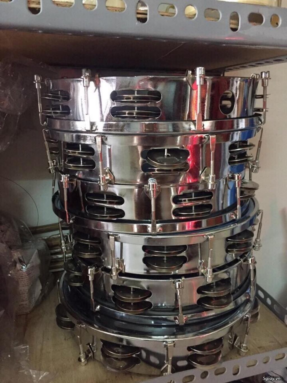 Trống gõ bo, trống lục lạc cầm tay, trống tambourine, trống lắc tay chơi nhạc chế - 6
